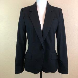 Zara Blazer Jacket Work 10 Black Long Sleeves Hip
